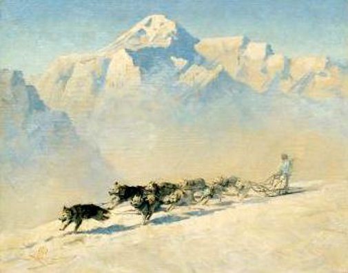 Dog Team, Mt. McKinley