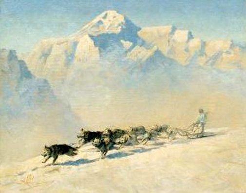 Dog Team, Mt. McKinley