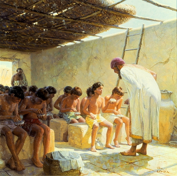 In An Ancient Mesopotamian School Boys Write On Clay Tablets