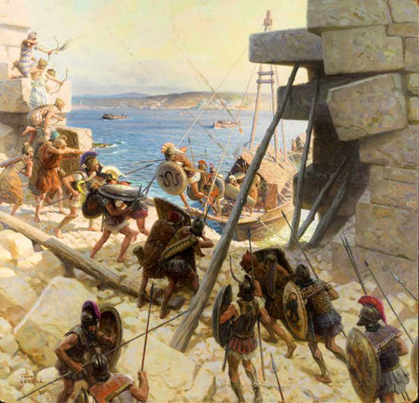 Macedonian Soldiers Attacking Tyre