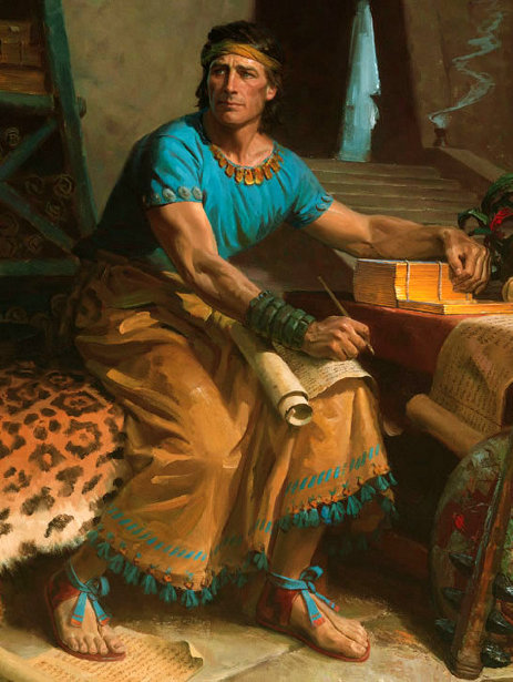 Moroni Inscribing Secret Records