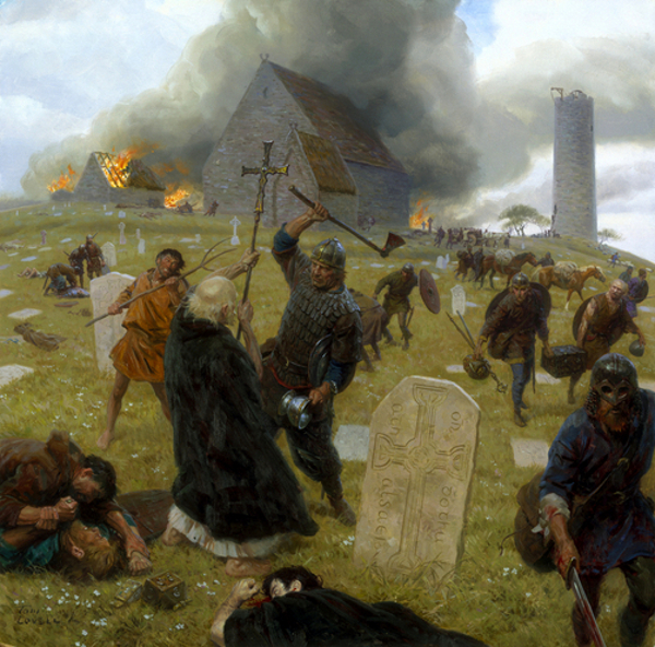Norse Marauders Wreak Mayhem At Clonmacnoise, Ireland