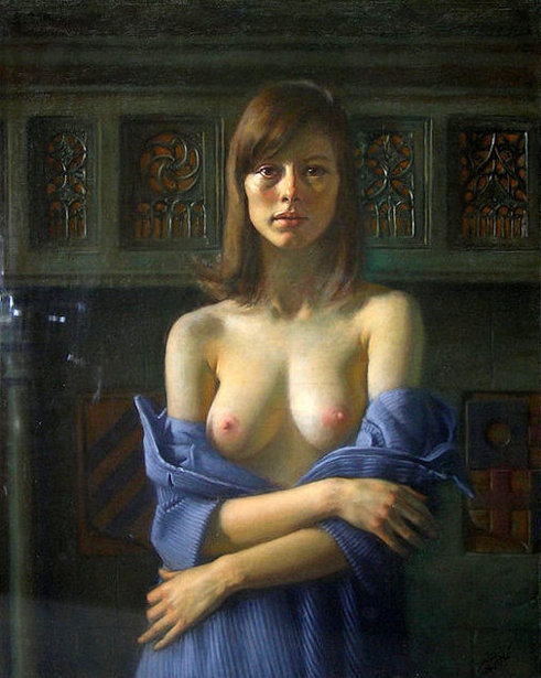 Semi-Nude Female Portrait