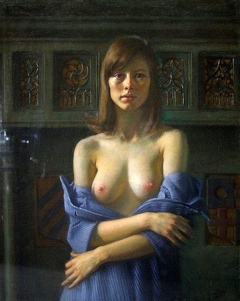 Semi-Nude Female Portrait