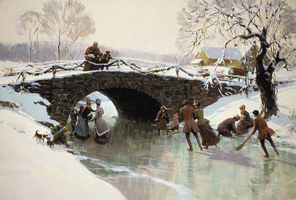 Skating On Christmas Afternoon - Winter Holiday