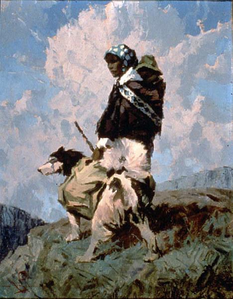 Tanana Woman And Dog