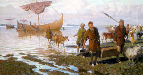 Vikings Land At Vinland On Newfoundland