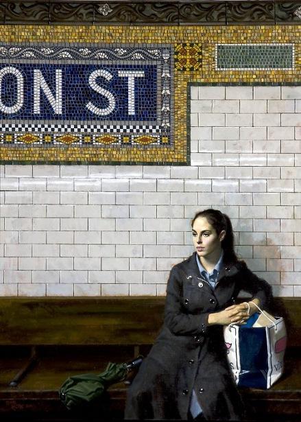 Waiting - Fulton St. (Green Umbrella)