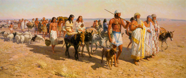 Young Abraham Travels With Family Up Euphrates Valley
