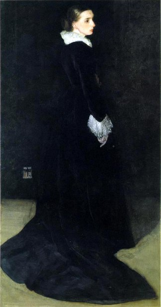 Arrangement In Black No 2 - Portrait Of Mrs. Louis Huth