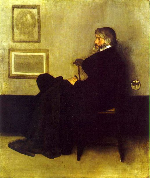 Arrangement In Grey And Black No 2 - Portrait Of Thomas Carlyle