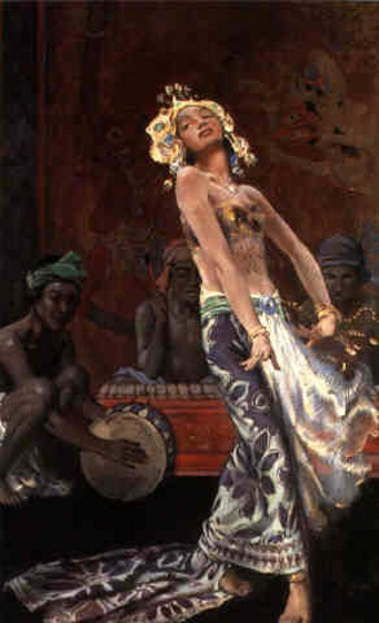 John Young Hunter (1874 – 1955) Balinese Dancers