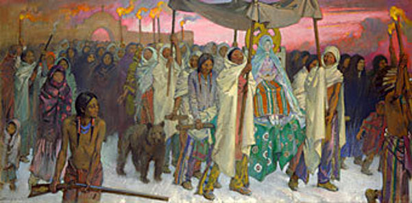 Christmas Eve Procession, Leaving The Church