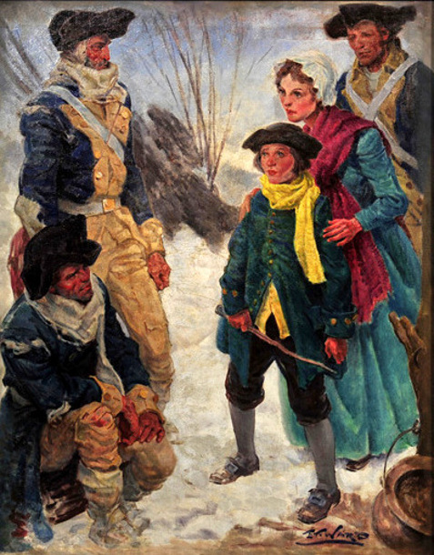 Edmund Franklin Ward (1892 – 1990) Colonial Soldiers at Valley Forge