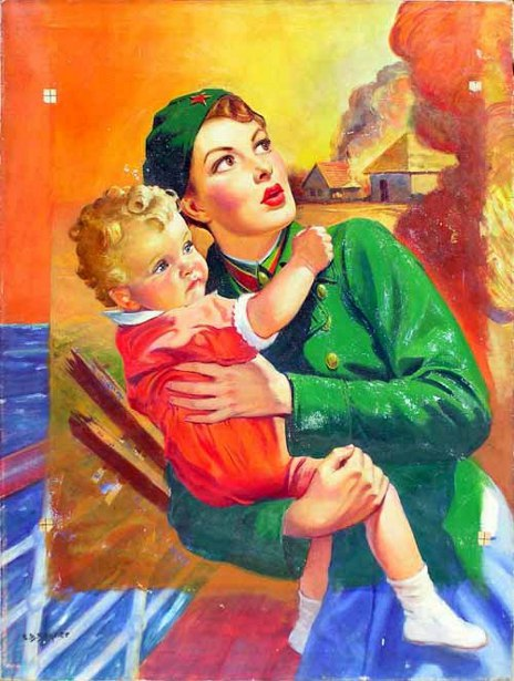 Communist Woman Holding A Child