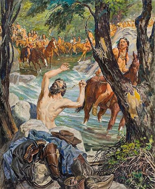 Edmund Franklin Ward (1892 – 1990) Cowboy Ambushed - Captured