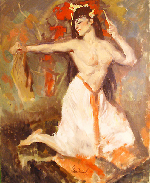 Edmund Franklin Ward (1892 – 1990) Exotic Dancer