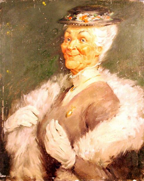 Edmund Franklin Ward (1892 – 1990) Facetious Portrait