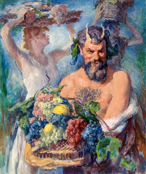 Edmund Franklin Ward (1892 – 1990) Faun And Bacchante
