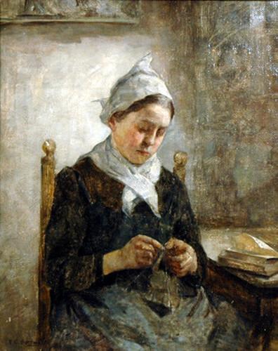 Knitting Woman