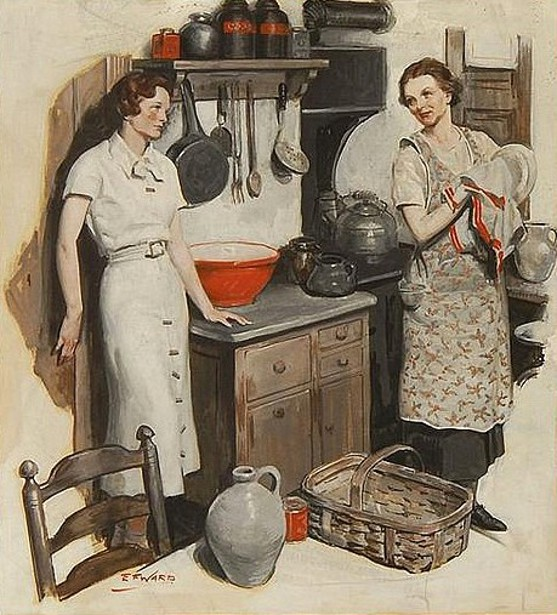 Edmund Franklin Ward (1892 – 1990) Kitchen Conversation