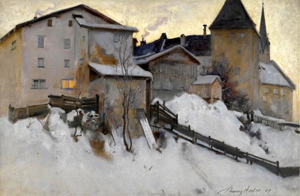 Kitzbuhl In The Snow, Austria