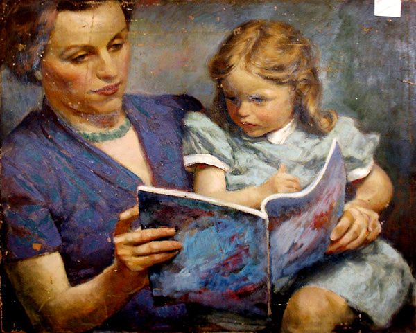 Edmund Franklin Ward (1892 – 1990) Mother And Child