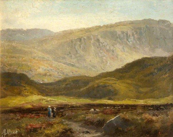 John Elliot  Mountainous Landscape