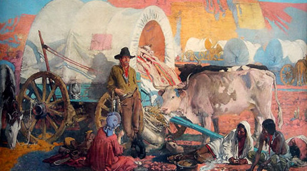 John Young Hunter (1874 – 1955) Old Santa Fe Trail