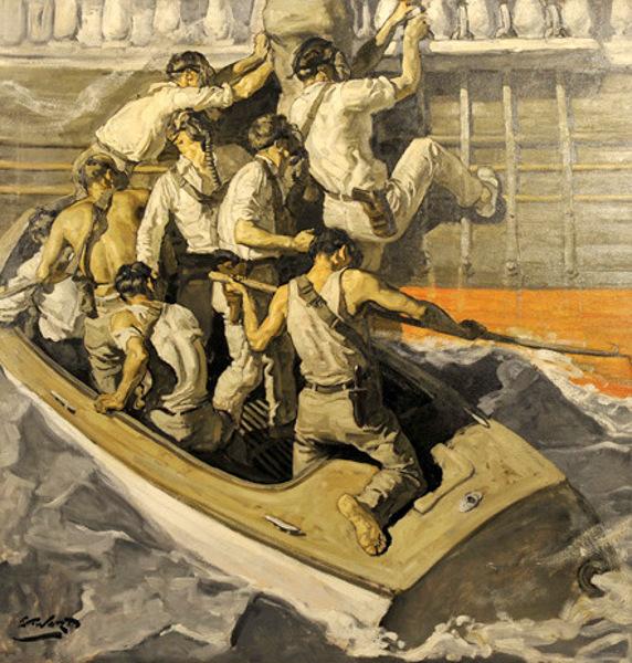 Edmund Franklin Ward (1892 – 1990)Pirates Boarding Ship