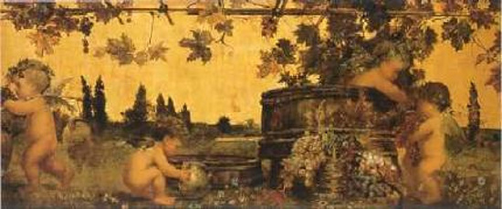 Putti In A Grape Arbor