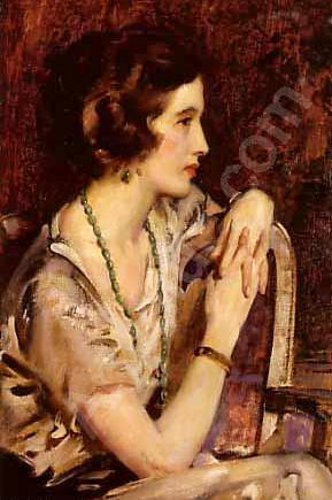 John Young Hunter (1874 – 1955) Rowena - Portrait Of A Lady
