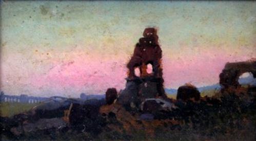 John Elliot Ruins At Sunset