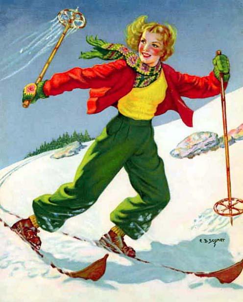 Skimming The Snow