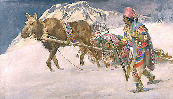 John Young Hunter (1874 – 1955) The Moose Travoix