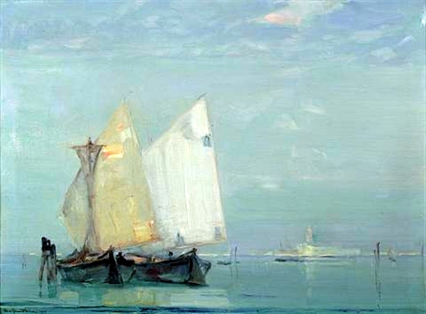 View Of Ships Near Venice