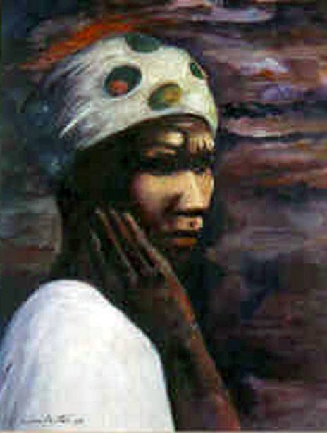 Woman With White Turban