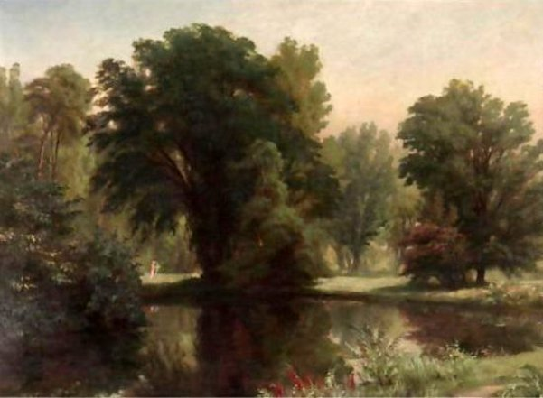 Landscape With Lovers By A Pond