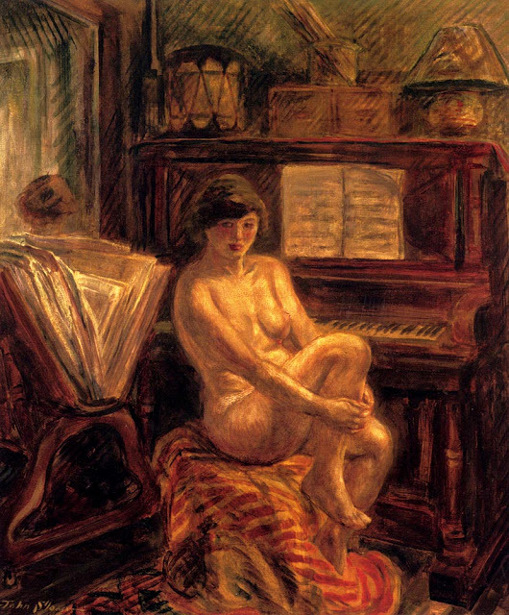 Nude At Piano