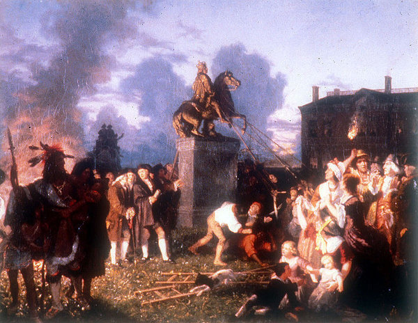 Pulling Down The Statue Of King George III, N.Y.C.