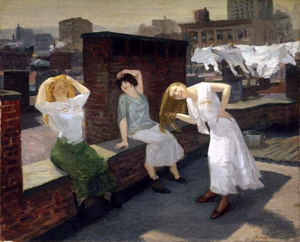 Sunday, Women Drying Their Hair