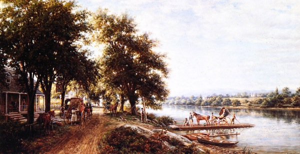 The Ferry Crossing At Von Steuben Tavern