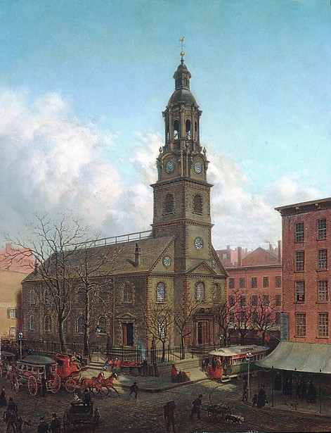 The North Dutch Church, Fulton And William Streets, New York