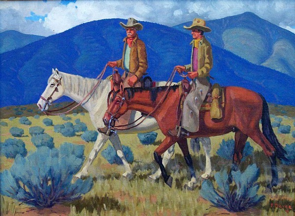 Two Riders, Taos, New Mexico