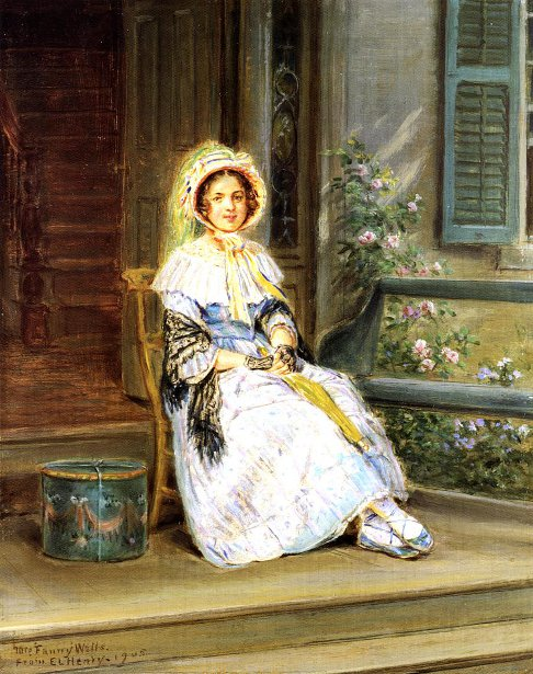 Waiting For The Stagecoach - Mrs. Fanny Wells