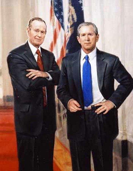 George Bush and George W. Bush