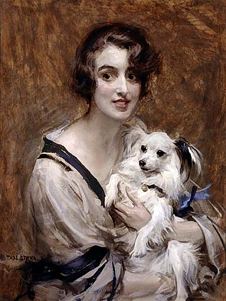 Lady With Pomeranian