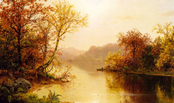 Mountain Lake In Autumn