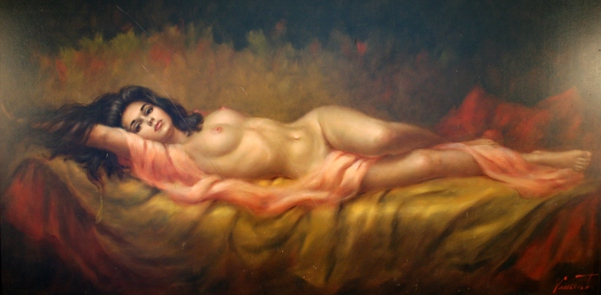 Opinion you reclining female nude painting what