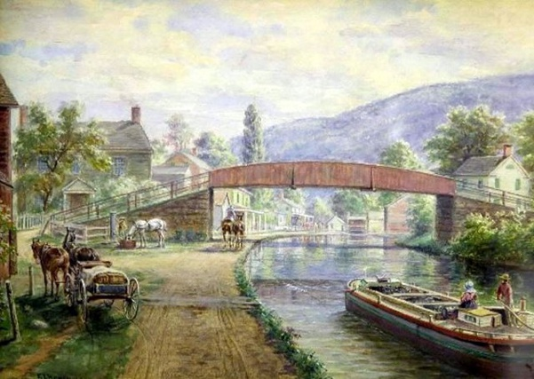The Old D&H Canal And Old Ellenville Center Street Bridge